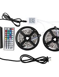 Kwb 2 * 5m 5050-150-rgb-ip65 44key 1to 212v 6a 72w strømforsyning led strip lys lys kit vandtæt