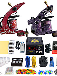 Solong Tattoo Beginner Tattoo Kit 2 Pro Machine s Power Supply Needle Grips Tips