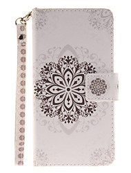 Painted Datura Flowers Pattern Card Can Lanyard PU Phone Case For Samsung Galaxy G530 G360 J1 J3 J5 (2016)