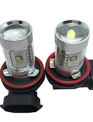 cheap -Car Light Bulbs 30W W SMD LED 2400lm lm 6 Fog Light