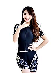 Per donna Dive Skins Top sottomuta Ompermeabile Resistente ai raggi UV Tactel Scafandro Manica corta Scafandri Costumi da bagno Set di