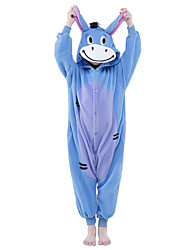 cheap -Kigurumi Pajamas Donkey Onesie Pajamas Costume Polar Fleece Blue Cosplay For Kid's Animal Sleepwear Cartoon Halloween Festival / Holiday