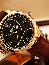 cheap -YAZOLE Men's Wrist Watch Casual Watch / Cool / / PU Band Casual / Fashion Black / Brown / SSUO 377