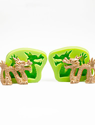 Cake Decorations Mould Chinese Dragon Set Silicone Mold for Chocolate Polymer Clay Sugarcraft Tools Color Random