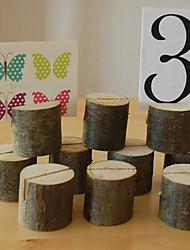 Недорогие -Дерево Место карты / Таблички с номерами столов Зажим Подарочный пакет 1 pcs