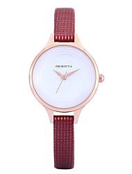 abordables -REBIRTH Mujer Reloj de Pulsera Gran venta / / PU Banda Casual / Moda / Elegante Negro / Blanco / Rojo / Dos año / Mitsubishi LR626