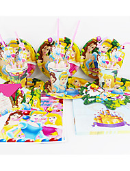 cheap -Disney Princess 92pcs Birthday Party Decorations Kids Evnent Party Supplies Party Decoration 12 People use