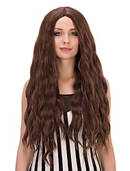 cheap -Women Synthetic Wig Long Natural Wave Brown Black Wig Costume Wig