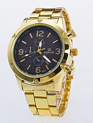 Men's Dress Watch Quartz / Alloy Band Casual Gold