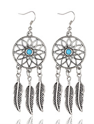 cheap -Women's Drop Earrings - Silver Plated Leaf Vintage, Bohemian Silver For Party / Daily / Casual