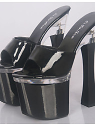 cheap -Patent Leather Summer Heels / Slippers Heels Wedding / Party / Casual  Heel/Stage catwalk fashion model