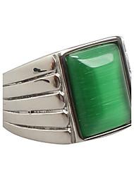 Anelli statement Acciaio al titanio Opale Vintage Di tendenza Verde Gioielli Feste Quotidiano Casual 1 pezzo