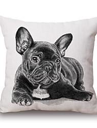 cheap -pcs Cotton/Linen Pillow Cover, Animal Print Graphic Prints Textured Casual Accent/Decorative Modern/Contemporary