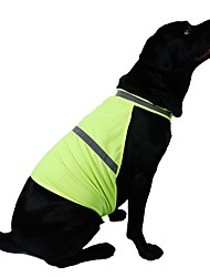 abordables -Chat Chien Gilet Vêtements pour Chien Décontracté / Quotidien Sportif Couleur Pleine Orange Jaune Costume Pour les animaux domestiques