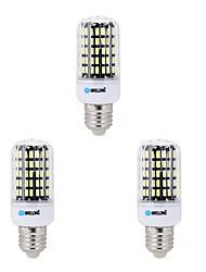 Недорогие -BRELONG® 3шт 7W 650lm E14 E26 / E27 B22 LED лампы типа Корн B 108 Светодиодные бусины SMD 5733 Декоративная Тёплый белый Холодный белый