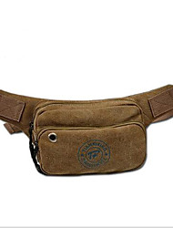 Men Bags Canvas Waist Bag for Casual Brown