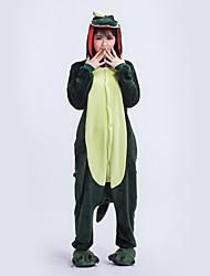 preiswerte -Kigurumi Pyjamas Gymnastikanzug/Einteiler Fest/Feiertage Tiernachtwäsche Halloween Dunkelgrün Geometrisch Kigurumi Für Unisex Halloween