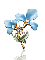 cheap -Women's Brooches - Stylish, Fashion Brooch Blue / Pink / Golden For Wedding / Dailywear