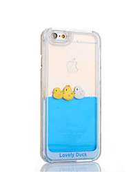 cheap -Funny Design Fluid Liquid Flowing Yellow Duck Crystal Clear Plastic Hard Case Cover for iPhone 6