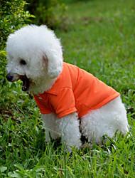 Недорогие -Собака Футболка Одежда для собак На каждый день Сплошной цвет Желтый Красный Зеленый Синий Розовый
