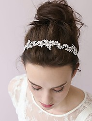 Basketwork Pearl Rhinestone Alloy Headbands Flowers Head Chain Hair Tool Headpiece