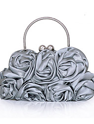 cheap -Women's Bags Other Leather Type / Satin Evening Bag Ruffles / Flower Red / Pink / Champagne