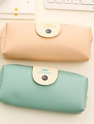 Korea Stationery Leather Pencil Case Male And Female Students Cute Large Capacity Pencil Case