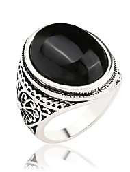Women's Fashion Diamond Exquisite Carved Agate Gemstone Popular Simple Ladies Ring