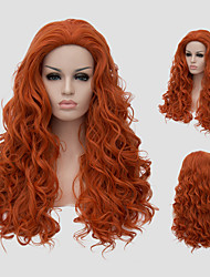 cheap -Synthetic Wig With Bangs Red Women's Capless Carnival Wig Halloween Wig Capless Wig Long Synthetic Hair