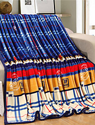 Plaid Fleece fabric blanket summer comforter Air conditioning throw winter soft bedsheet for single or double bed