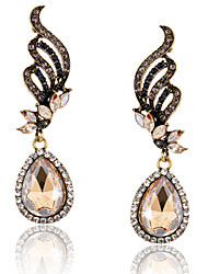 Damen Tropfen-Ohrringe Modisch Luxus-Schmuck Europäisch Modeschmuck Diamantimitate Aleación Tropfen Schmuck Flügel Schmuck Für Alltag