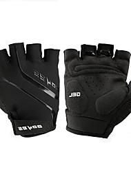 Недорогие -Спортивные перчатки Перчатки для велосипедистов Износостойкий Анти-скольжение Защитный Антибактериальный Легкие Без пальцев Спандекс Кожа