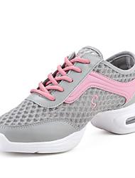 "Women's Modern Fabric Heel Indoor Chunky Heel White Black Gray 1"" - 1 3/4"" Non Customizable"