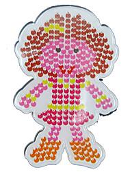 1pcs template chiaro Perler perline pegboard modello figlia ragazza di perline Hama 5 millimetri fusibile perline