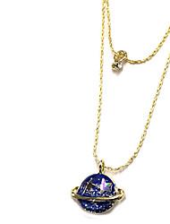 Ожерелье Ожерелья с подвесками / Слоистые ожерелья Бижутерия Повседневные Двойной слой Сплав Золотой 1шт Подарок