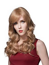 гладкая элегантный естественный вентилируют длинные волнистые парик человеческих волос сек
