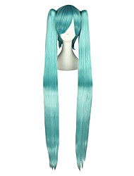 Parrucche Cosplay Vocaloid Mikuo Blu Molto lungo / Dritto Anime Parrucche Cosplay 120 CM Tessuno resistente a calore Uomo / Donna