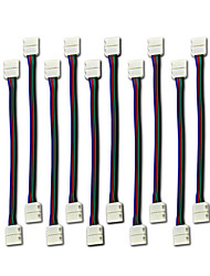 cheap -10PCS LED 5050 RGB Strip Light Connector 4 Conductor 10 mm Wide Strip to Strip Jumper