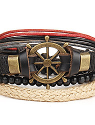 cheap -Men's Leather Bracelet - Leather Punk Bracelet Brown For Daily / Casual