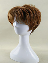 cheap -Modern Lady's Wig Brown Short Curly Synthetic Wigs with Heat Resistant fiber Wig  American African Wig