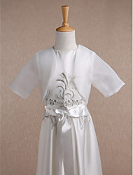 cheap -Organza Wedding Party Evening Casual Kids' Wraps With Draping Shrugs