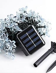 1pc a conduit la maison solaire extérieur noël décorer chaîne de lumières de 50dip 7m