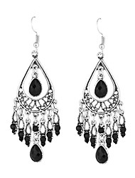 cheap -Women's Girls' Silver Plated - Tassel Vintage Party Casual Bohemian Square Geometric Drop For Wedding Party Daily Casual