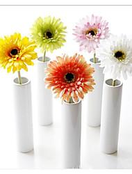 Недорогие -1 ветка шелковые ромашки настольный цветок барбертон ромашка искусственные цветы