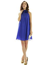 Недорогие -сексуальная шея цветок высокий воротник joannekitten® женская драпированные негабаритных платье