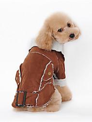 preiswerte -Hund Mäntel Hundekleidung warm halten Tier Kaffee Braun Blau Kostüm Für Haustiere
