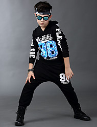 Boy's Cotton Spring/Autumn Hip-hop Fashion Print Sport Suit Long Sleeve Shirt And Hallen Pants Tracksuit Two-piece Set