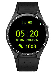 preiswerte -Smartwatch 3g kingwear 1,39 w8 '' AMOLED-400 * 400 Smart Watch 3g 2.0MP Kamera Pedometer Herzfrequenz Aufruf