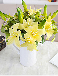Hi-Q 1Pc Decorative  Real Touch   Lily Flower Wedding Home Table Decoration Artificial Flowers