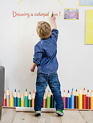 Colorful Pencil Skirting Line Wall Stickers Kindergarten Children's Bedroom Wall Decals
